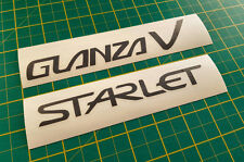 Glanza V Starlet Boot Tailgate Rear Stickers Decals for Toyota Turbo EP91 JDM