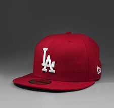 NEW ERA MLB Los Angeles Dodgers 59Fifty fitted Cap red white - 10047498 NEU