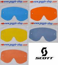 Rip n roll blue tear off replacement lens for Scott 89XI motocross goggles lens