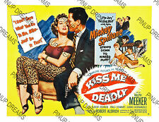 """Retro 1950s Vintage Movie Poster """"Kiss Me Deadly"""" re-print A4,A3, Cult Classic"""