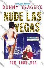 """Retro 50s Vintage Movie Poster """"Las Vegas"""" Bunny Yeager, re-print A4,A3, Cult"""