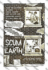 Scum of the Earth - Movie Poster Re-print - Vintage Retro Cult Film, A4, A3, A3+