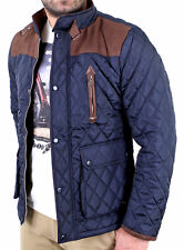 Reslad Winterjacke Herren Diamond-Stich-Look Steppjacke Jacke RS-417 Navy