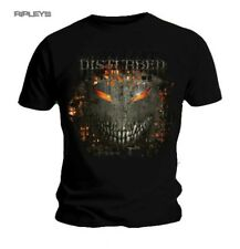 Official T Shirt DISTURBED Evil Face FIRE BEHIND Logo All Sizes