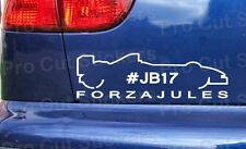 Forza Jules Bianchi #JB17 rip memorial Vinyl Car Window Stickers Decals ref: 8