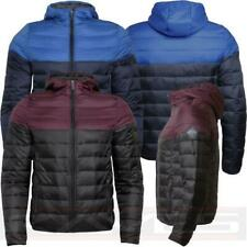 Mens Padded Quilted Jacket Hooded Two Tone Coat Warm Winter Threadbare MONGREL