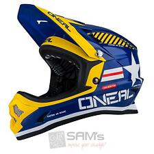 O'Neal Fury Fidlock DH Helm Evo AFTERBURNER Blau FR MTB AM Freeride Downhill