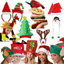 ADULTS CHRISTMAS HATS PRESENTS STOCKING FILLERS FANCY DRESS FUNNY XMAS PARTY