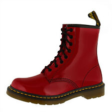 DR DOC MARTENS 1460 W BOOTS 8-LOCH STIEFEL RED PATENT LAMPER 11821606