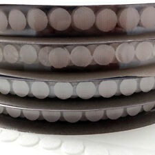 13mm HOOK AND LOOP SELF ADHESIVE STICK ON COINS DOTS SPOTS DISCS CIRCLES FABRIC