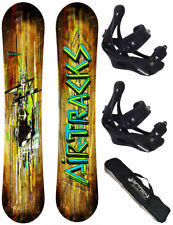 SNOWBOARD SET AIRTRACKS TABLA ZEBRA+FIJACIONES SAVAGE+BAG/140 145 150 155cm/