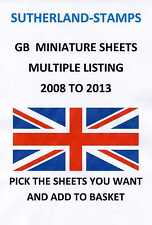 2008 - 2013 MINT MINI / MINIATURE SHEETS MULTIPLE LISTING + YEAR SETS - FREE P&P