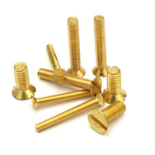M3 (3mm) SOLID BRASS MACHINE SCREWS SLOTTED CSK COUNTERSUNK HEAD BOLTS METRIC