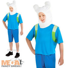 Finn Boys Adventure Time Fancy Dress Childs Cartoon Network Kids Book Costume
