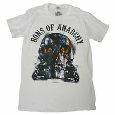 Sons of Anarchy Redwood Original OFFICIAL Moto Club Biker Schädel weißes T-Shirt