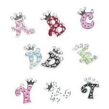 5 Pcs 20mm Alphabet Letter Alloy Enamel Charm Pendants Variety of Alphabet