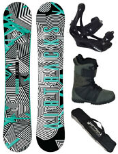 SNOWBOARD SET AIRTRACKS TABLA NEPTUNE ROCKER+FIJACIONES+BOTAS+BAG /158 160/NUEVO