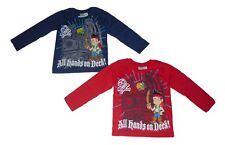 Boys long sleeved tops disney jake and the neverland pirates 2 3 4 5 6 & 7 years