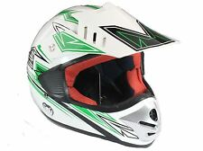 Childrens MOTOCROSS Crash HELMET kids child MX Junior ATV BMX motorcross GREEN