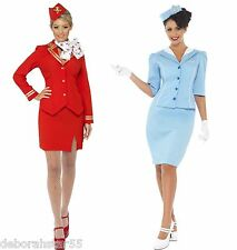 Air Hostess Fancy Dress 80s Air Hostess Costume 80s Fancy Dress UK 8-20