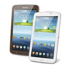 """Samsung Galaxy Tab 3 7"""" 8GB Android 4.1 Wi-Fi Tablet SM-T210R Brown or White"""