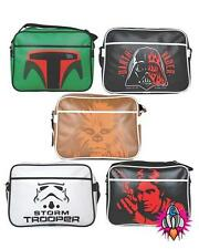 STAR WARS RETRO SHOULDER MESSENGER SCHOOL BAG HAN SOLO BOBA FETT STORMTROOPER