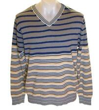 Bnwt Authentic Men's French Connection V Neck Jumper Sweater Striped New RRP£55