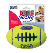 KONG AirDog Squeaks Squeaker Air Neon Yellow Dog Puppy Fetch Toy Football Ball