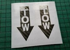 TOW Carbon Fibre Vinyl Stickers Decals Race Rally Trackday Racing Motorsport d1