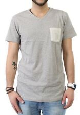iriedaily T-Shirt Men V POCKET RINGEL Ecru Mel