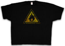 XXXXL CAUTION FLAMMABLE SIGN T-SHIRT  - Leicht Entflammbar Schild 4XL 5XL XXXXXL