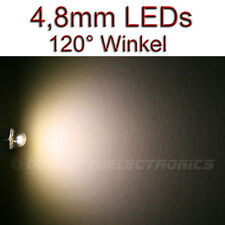 4,8mm 120° LEDs WARMWEISS 5 Lumen / 1500mcd