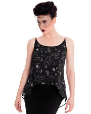 Spin Doctor Ouija Board Top Spirit Womens Tank Vest Black Goth Occult Witch