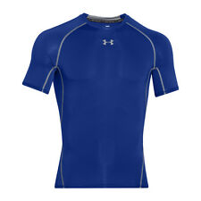 UNDER ARMOUR HEATGEAR COMPRESSION SHORT SLEEVE SHIRT ROYAL STEEL 1257468-400