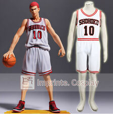 Slam Dunk Shohoku High No.10 Sakuragi White Uniform Cosplay Costume FREE P&P