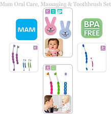 Mam Baby Brush & Teeth Care (Oral Care,Massaging,First, Learn to Brush Set)