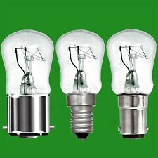 8x 15W Dimmable Clear Pygmy Light Bulbs, BC, B22, SBC, B15d or SES, E14 Lamps