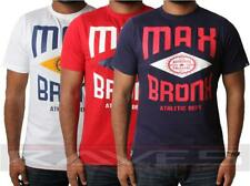 Mens T-shirt Tee Max Edition Bronx Printed Graphic Crew Neck 100% Cotton Top