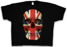 4XL & 5XL BRITISH SKULL FLAG T-SHIRT - Britain England UK MOD Shirt XXXXL XXXXXL