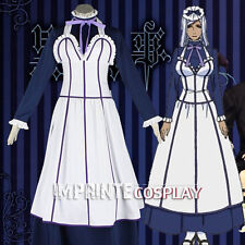 Black Butler Maid Uniform Outfit Cosplay Costume Full Set FREE P&P