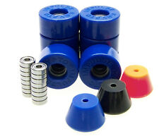 Pattini Rotoli / Stopper / ABEC Cuscinetti Set Disco Monopattino Impulse BLUE