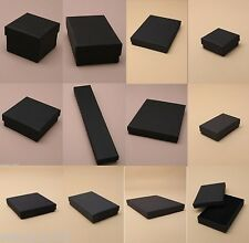 PACK OF BLACK CARD JEWELERY BOXES WITH FLOCK PAD: 2 DOZEN - 20 DOZEN - WHOLESALE