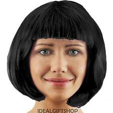 LADIES BOB WIG WITH FRINGE 1920'S FLAPPER FANCY DRESS FASHION BABE 8 COLOURS