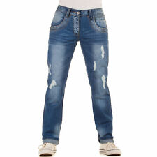 LUXUS NEU DESIGNER HERREN hn57 REGULAR FIT DESTROYEDJEANS Blau 0€