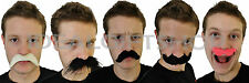 ADULT PARTY MOUSTACHE FANCY DRESS ACCESSORY 5 STYLES WESTERN MEXICAN FRENCH TASH