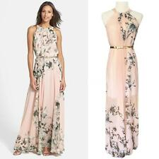 NEW Fashion Casual Women's Sexy Summer Beach Evening Party Long Maxi Dress Pink