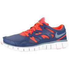 NIKE FREE RUN 2 EXT WOMEN SCHUHE BLUE HOT LAVA 536746-406 DAMEN LAUFSCHUHE 5.0