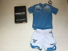 FW15 LAZIO MACRON SET KID HOME MAGLIA PANTALONCINI SHIRT + SHORTS JUNIOR