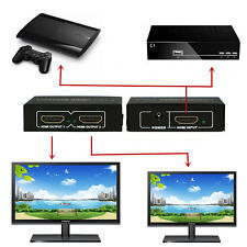 1 in 2 out Full HD 1080P 3D HDMI TV Splitter Port Hub Repeater Amplifier Adapter