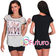 Casual Sequined T-Shirt Try Hard Print Party Top Everyday Tunic Sizes 8-12 FB223